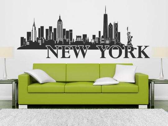 Silhouette von New York als Wandtattoo