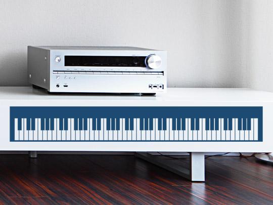 Klavier Tasten als Möbeltattoo