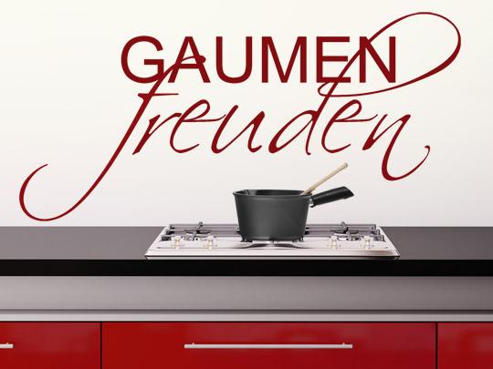 Kulinarische Wandtattoo Worte Gaumenfreuden