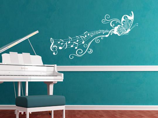Wandtattoos zum Thema Musik