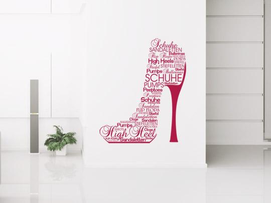 Wandtattoo Schuh Geschenk