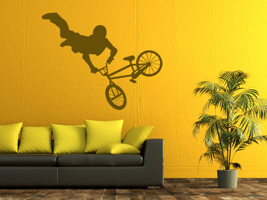 BMX Rad als Wandtattoo