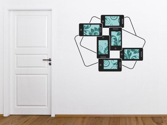 Wandtattoos Fotorahmen mit Muster