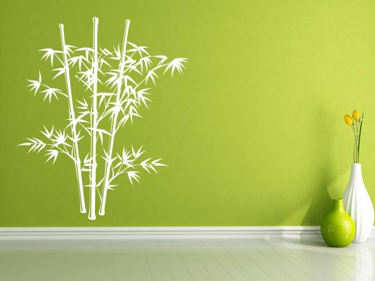Wanddekoration mit Bambus