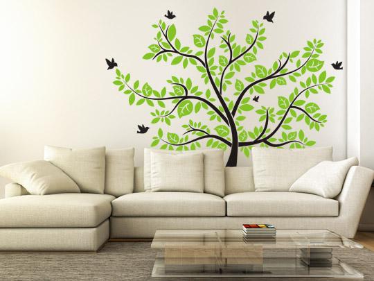 Kreative Wandtattoo Bäume