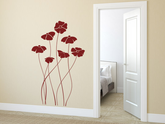 Dekorative Blumen Wandtattoos