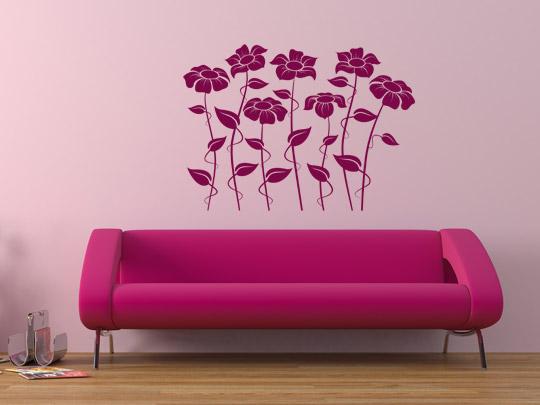 Muttertagsgeschenk Blumen als Wandtattoo