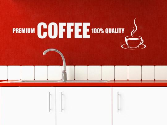 Coffee Wandtattoos für die Küche