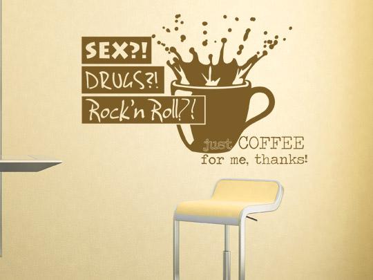 Wandtattoo lustig Kaffee