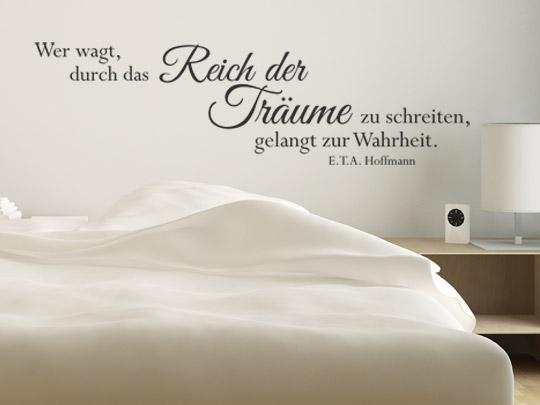 Traum Wandtattoo Zitat von Hoffmann
