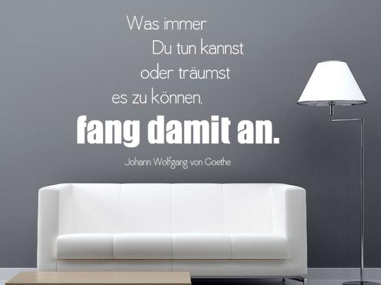 Zitate als Wandtattoos Goethe