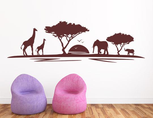 Afrika Motiv als Wandtattoo