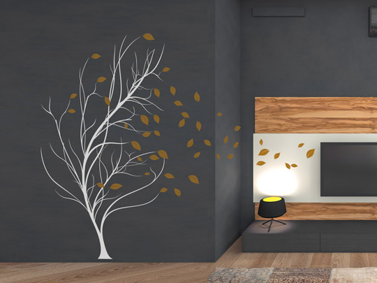 wandlungsf higes wandtattoo baum im wind einfach selbst gestalten. Black Bedroom Furniture Sets. Home Design Ideas