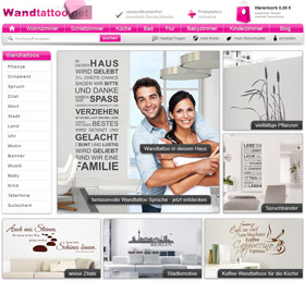 Screenshot von www.wandtattoo.net
