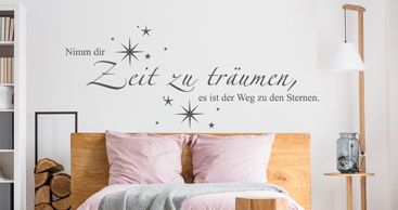 wandtattoo spruch sch ne spr che als wandtattoos. Black Bedroom Furniture Sets. Home Design Ideas