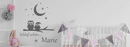 wandtattoo f r m dchen s e babyzimmer wandtattoos. Black Bedroom Furniture Sets. Home Design Ideas