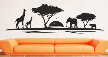 Wandtattoo afrika afrikanische wandtattoos erleben - Wandtattoo afrika tiere ...