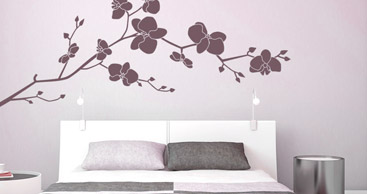 wandtattoo blume stilvolle blumen als wandtattoos. Black Bedroom Furniture Sets. Home Design Ideas