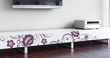 Wandtattoo Möbel - Möbeltattoo - Wandtattoos auf Möbel kleben