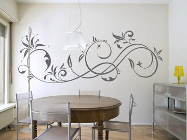 florale wandtattoo ornamente schmuckvolle wandtattoos floral. Black Bedroom Furniture Sets. Home Design Ideas