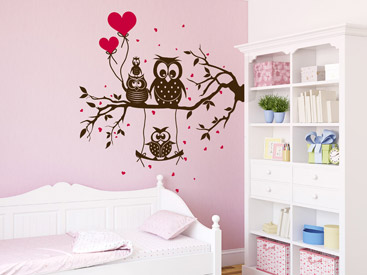 wandtattoo eule sch ne eulen als wandtattoos. Black Bedroom Furniture Sets. Home Design Ideas