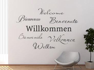 Wandtattoo Willkommen Herzlich Willkommen Wandtattoos