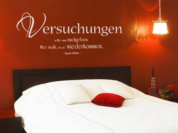 Wandtattoo über Bett - Schöne Wandtattoos über Betten und Nachttisch