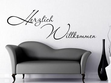 wandtattoo willkommen herzlich willkommen wandtattoos. Black Bedroom Furniture Sets. Home Design Ideas