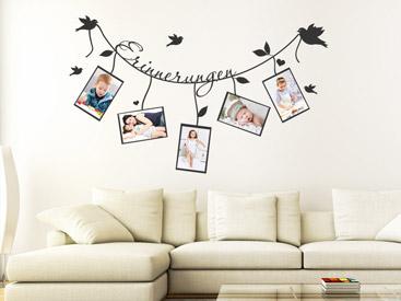 wandtattoo rahmen bilderrahmen wandtattoos fotorahmen. Black Bedroom Furniture Sets. Home Design Ideas