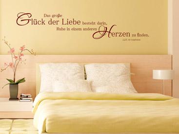 Liebe Wandtattoo - romantische Wandtattoos für Verliebte