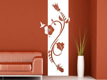 Wandtattoo hibiscus wandtattoos mit hibiskus bl ten for Wohnungsgestaltung farben