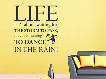 dance in the rain wandtattoo englisch. Black Bedroom Furniture Sets. Home Design Ideas
