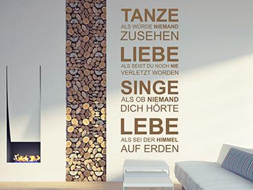 Moderne Wandtattoos wandtattoo modern - schlichte und moderne wandtattoos