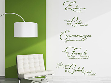 sch ne wandtattoo schriften wandtattoos in. Black Bedroom Furniture Sets. Home Design Ideas