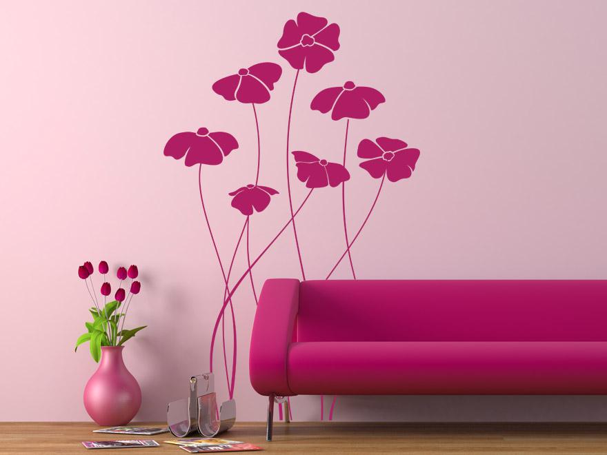 wandtattoo mohnblumen wandtattoos mohn bl ten von. Black Bedroom Furniture Sets. Home Design Ideas