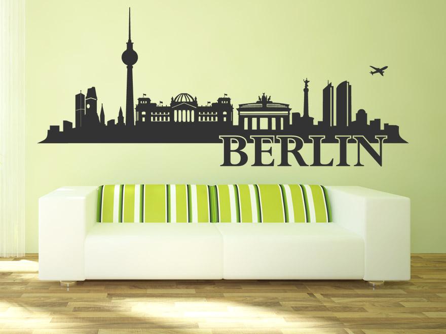 wandtattoo berlin skyline von wandtattoo