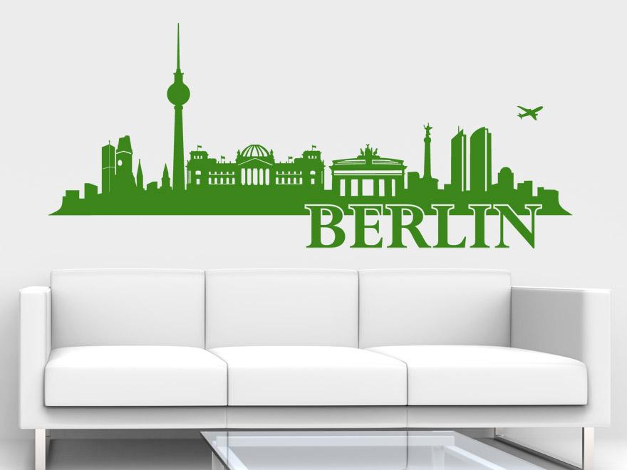 wandtattoo berlin skyline von. Black Bedroom Furniture Sets. Home Design Ideas