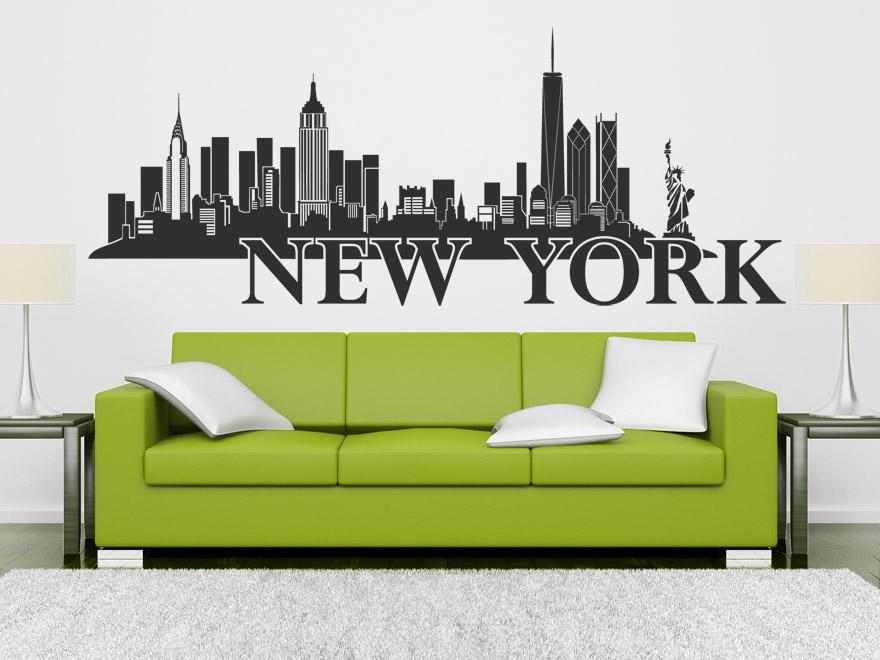 Wandtattoo new york skyline von - Moderne wandtattoos ...