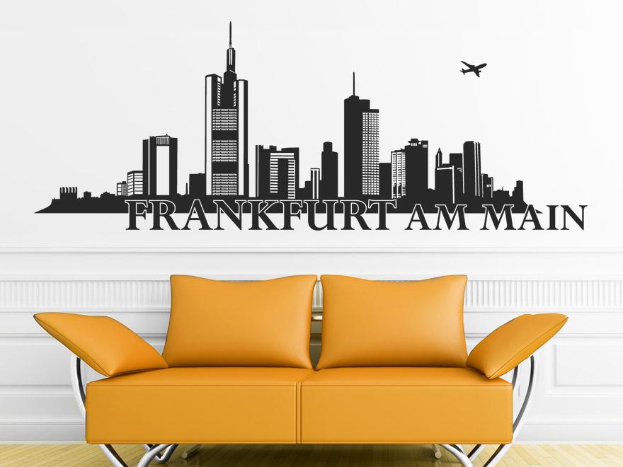 wandtattoo frankfurt skyline von. Black Bedroom Furniture Sets. Home Design Ideas