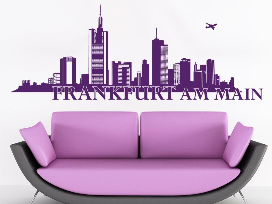 wandtattoo frankfurt skyline von. Black Bedroom Furniture Sets. Home Design Ideas