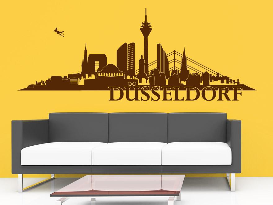 wandtattoo d sseldorf skyline von. Black Bedroom Furniture Sets. Home Design Ideas