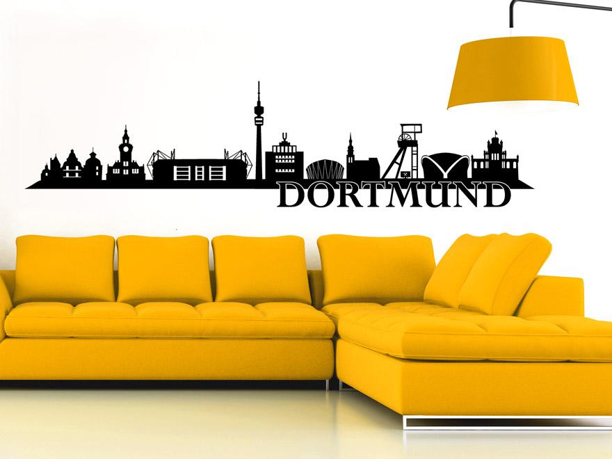 wandtattoo dortmund skyline von. Black Bedroom Furniture Sets. Home Design Ideas