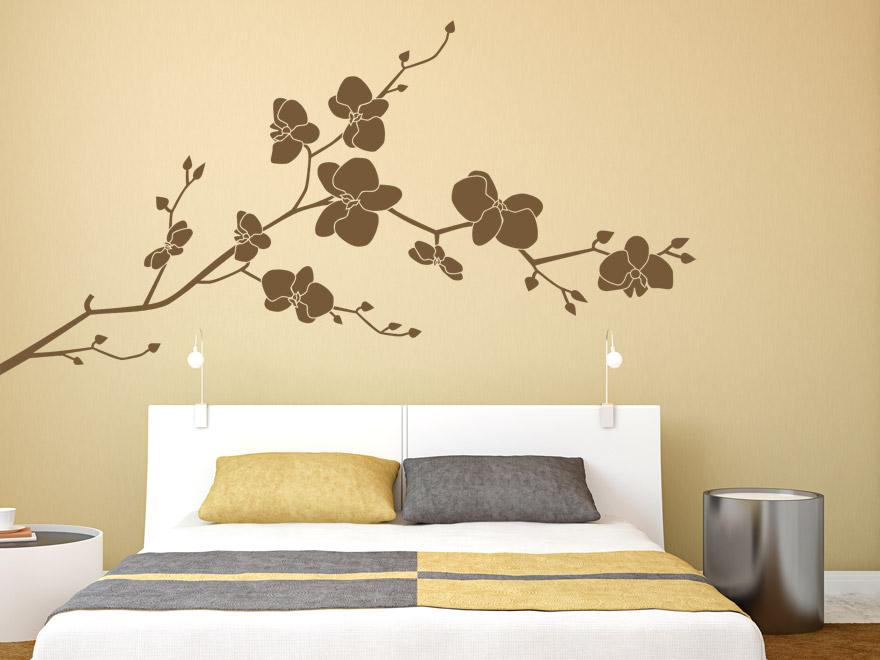 wandtattoos schlafzimmer blumen inspiration design raum und m bel f r ihre. Black Bedroom Furniture Sets. Home Design Ideas