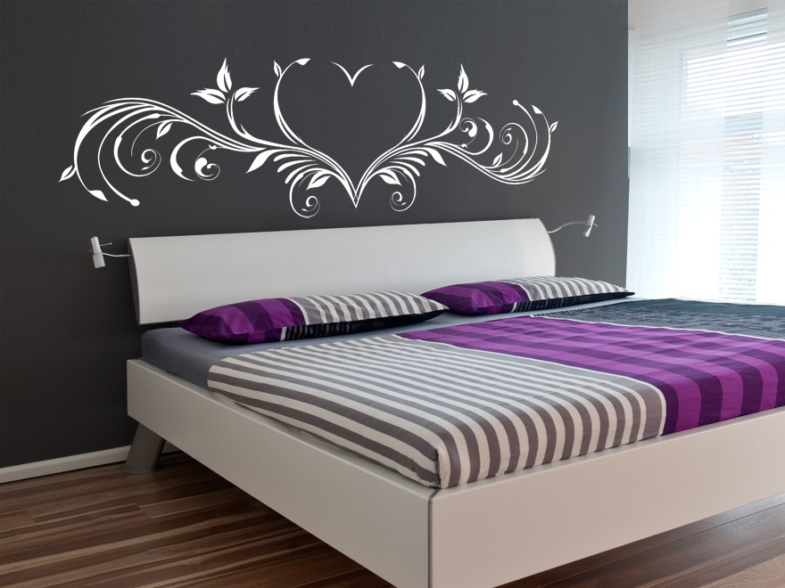 wandtattoo sch nes herzornament wandtattoos ornament herz von. Black Bedroom Furniture Sets. Home Design Ideas