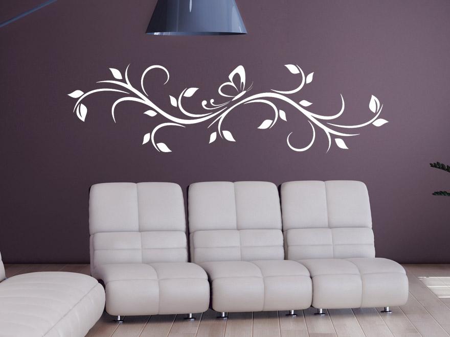 wandtattoo ornament bl tterranke wandtattoos ornament bl tterranke von. Black Bedroom Furniture Sets. Home Design Ideas