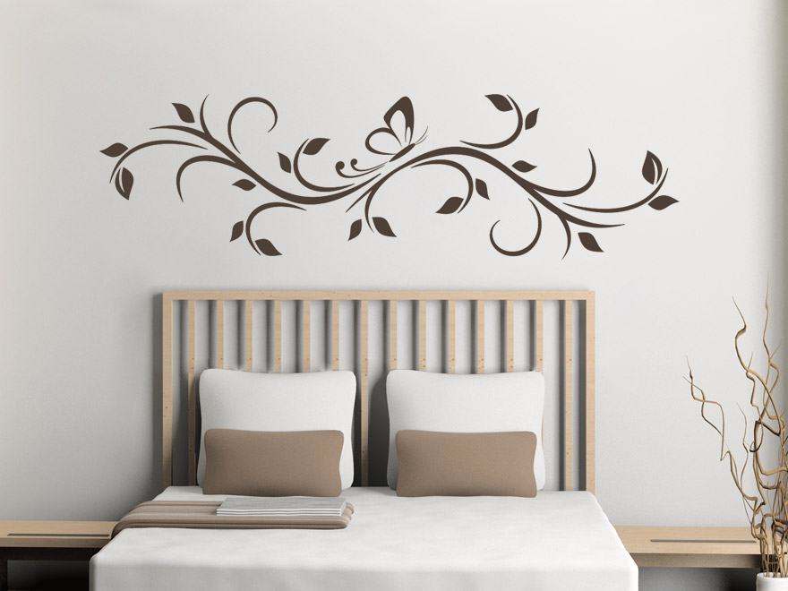 wandtattoo ornament bl tterranke wandtattoos ornament bl tterranke von. Black Bedroom Furniture Sets. Home Design Ideas