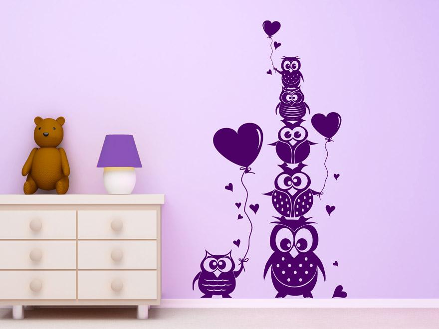 witzige eulen familie von. Black Bedroom Furniture Sets. Home Design Ideas
