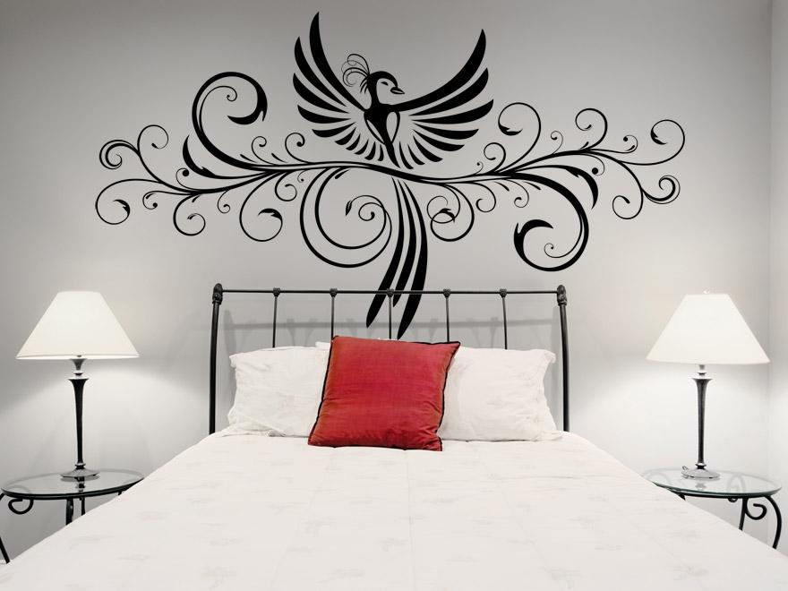 wandtattoo ornament mit ph nix wandtattoos ornament ph nix. Black Bedroom Furniture Sets. Home Design Ideas