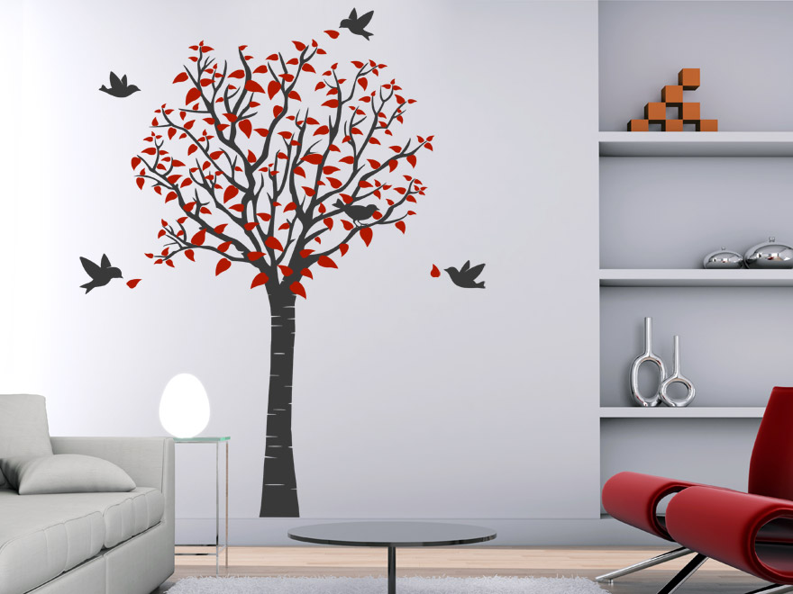 wandtattoo baum von. Black Bedroom Furniture Sets. Home Design Ideas