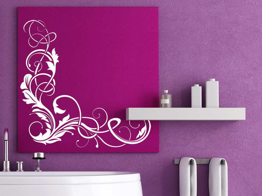 wandtattoo eckornament wandtattoos ornament ecke floral von. Black Bedroom Furniture Sets. Home Design Ideas